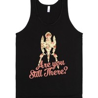Are You Still There (portal)-Unisex Black Tank