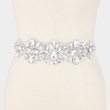 Beautiful tear drop rhinestone wedding belt #wb6568-337739