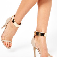 ASOS HONG KONG Heeled Sandals with Metal Trim
