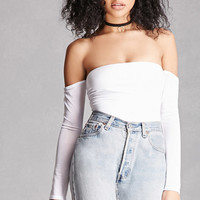Off-the-Shoulder Thong Bodysuit