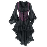Black Pirate Queen Dress                           - New Age, Spiritual Gifts, Yoga, Wicca, Gothic, Reiki, Celtic, Crystal, Tarot at Pyramid Collection
