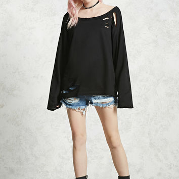Distressed French Terry Top