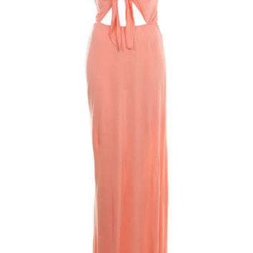 Coral Tie Front Maxi Dress - Dresses - Apparel - Miss Selfridge US