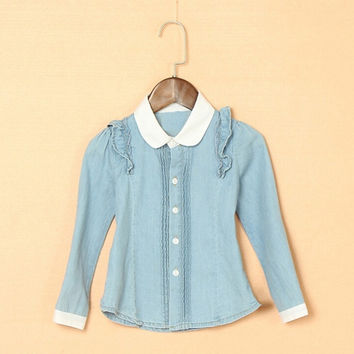 Fashion Kid Girls Long Sleeved Blouse = 1838986308