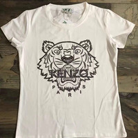 Kenzo Fashion Trending Solid color Tiger T-Shirt