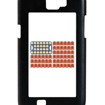 American Breakfast Flag - Bacon and Eggs Galaxy Note 2 Case  by TooLoud