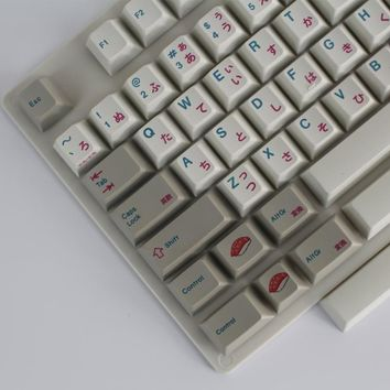 Enjoypbt keyboard mechanical keyboard keyboarded hot 117 keycaps Japanese keycaps  Dye-Subbed Keycap Set cmyw rgby