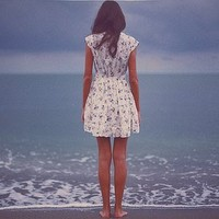 dress, girl, legs, model, sea - inspiring picture on Favim.com