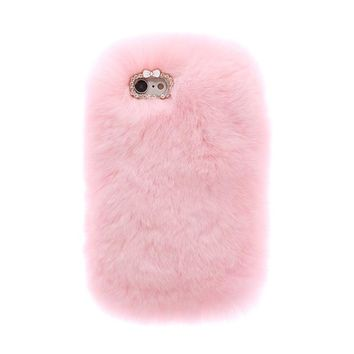 Pink Fur iPhone Case