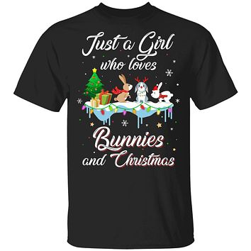 Just A Girl Who Loves Bunnies And Christmas Bunny Lover