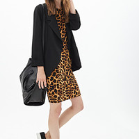 FOREVER 21 Leopard Bodycon Dress Brown/Black