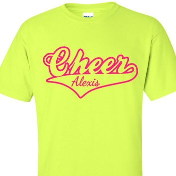 Personalized Cheer Shirt, Megaphone Cheerleader Shirt, School Spirit Shirt, Pep Rally