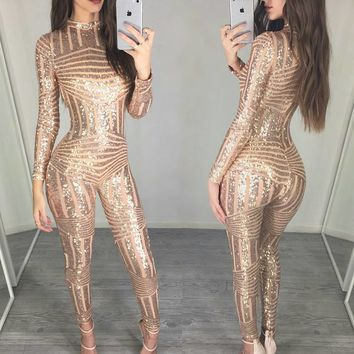 Herve Leger 2018 Trending Long sleeved beads of gold beads Sexy women spring summer Wedding maxi dress