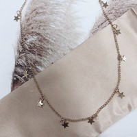 Falling Star Gold Star Necklace