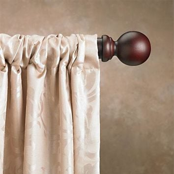 2 Inch Double Wood Curtain Rod Sets