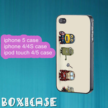 Despicable Me Minion---iphone 4 case,iphone 5 case,ipod touch 4 case,ipod touch 5 case,in plastic,silicone and black,white.