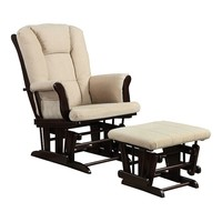Coaster 2-pc. Glider Rocking Chair & Ottoman Set (Beige/Khaki)