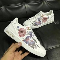 Louis Vuitton LV Flower Women Fashion Old Skool Flats Shoes