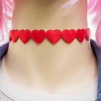 Red Heart Valentine Choker