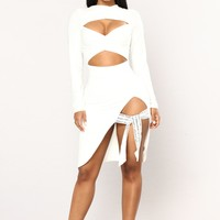 Say It Strappy Dress - Off White
