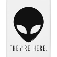 "Alien They Are Here Fridge Magnet 2""x3"