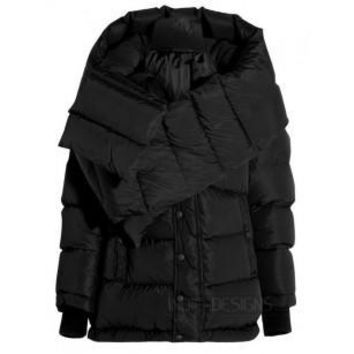 indie designs balenciaga inspired swing doudoune oversized quilted shell hooded coat 2