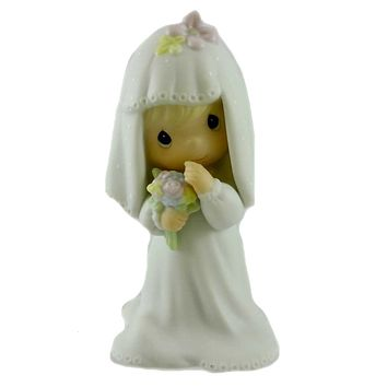 Precious Moments BRIDE Porcelain Wedding Marriage Vows E2846