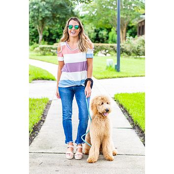 Like It Or Knot Cold-Shoulder Top