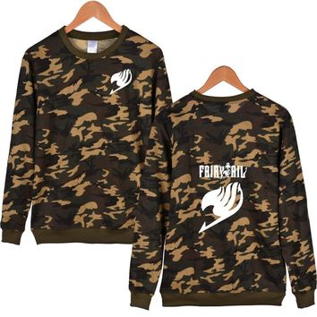 Fairy Tail Cartoon Camouflage Winter Hoodies Men Casual Classic Japanese Anime Sweatshirt Men Hoodie Autumn Fashion 4XL Clothes