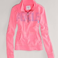 AE Signature Mock Neck Sweatshirt | American Eagle Outfitters