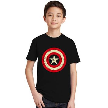 2017 Summer Boys superhero T shirt Clothes Captain America Kids T-shirts For Boy Cartoon Tops super hero Tees Children Clothing