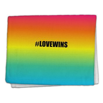 "Rainbow Print - Hashtag Love Wins 11""x18"" Dish Fingertip Towel All Over Print"