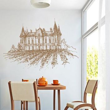 ik2389 Wall Decal Sticker old winery French Italian restaurant kitchen