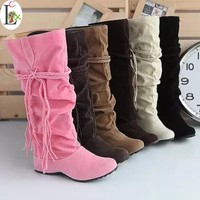 Shoes women boots autumn and winter snow boots ladies sexy Knee high boot big size 34-43 Hot 2015 Fashion newest Free shipping