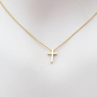 Small, Cross, Gold, Silver, Necklace, Lovers, Best friends, Mom, Sister, Gift, Accessory, Jewelry