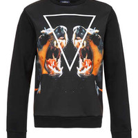 Black Doberman Neoprene Printed Sweatshirt - New This Week - New In