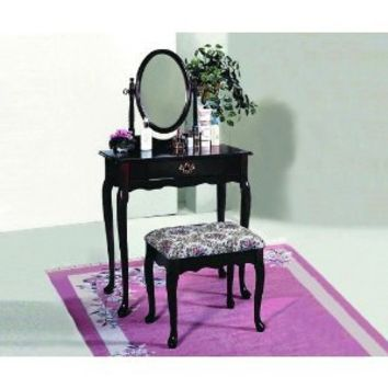 Crown Mark Vanity, Cherry