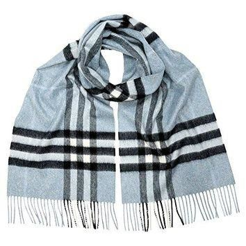 Burberry Women's Classic Check Scarf Dusty Blue