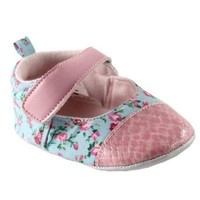 Girl's Dress Shoe for Baby, Pink Floral, 12-18 months