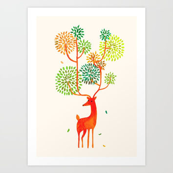 For the tree is the forest Art Print by Picomodi