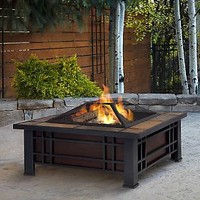 Real Flame Morrison Wood-Burning Fireplace — QVC.com