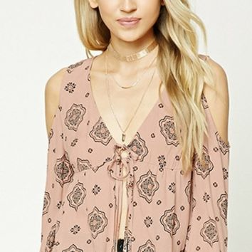 Open-Shoulder Ornate Top