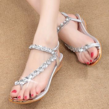 Bling Bling Rhinestones Comfortable Beach Sandals