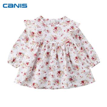 Newborn Infant Toddler Baby Girls Floral Princess Dress Christmas Party Wedding Pageant One-Piece Christmas Tutu Dresses