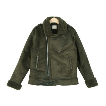 Suede Mustang Leather Rider Jacket