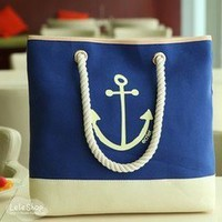 Bestgoods — Cute Blue Anchor Bag