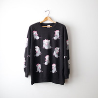 80s Kittens in Shoes Pullover by Spumoni