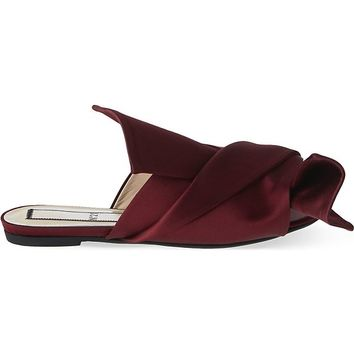 NO 21 - Bow satin slippers | Selfridges.com