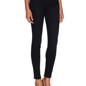 7 for All Mankind Women's High-Rise Gwenevere Squiggle Skinny Jean - Black