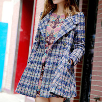 Plaid Long Sleeve Coat